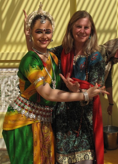Keeter and Odissi dancer
